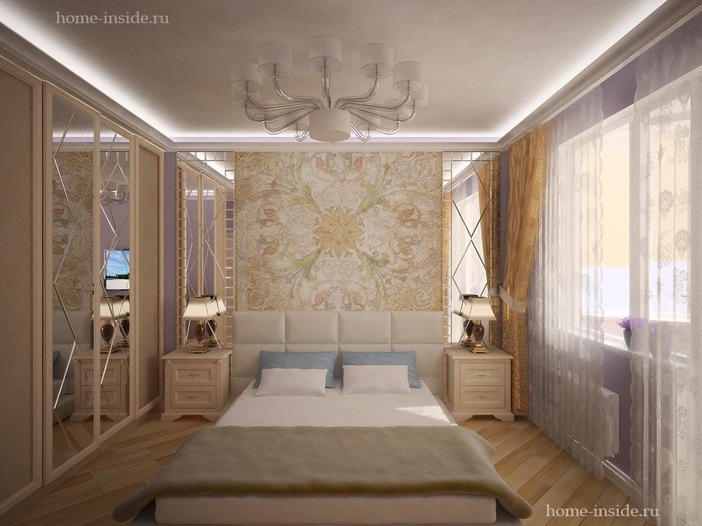 Фрески в интерьере спальни фото